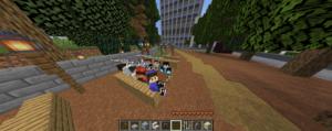 Studierende des KIT haben während der Corona-Pandemie den Campus Süd des KIT virtuell im Videospiel Minecraft nachgebaut. (Foto: Valentin Quapil)