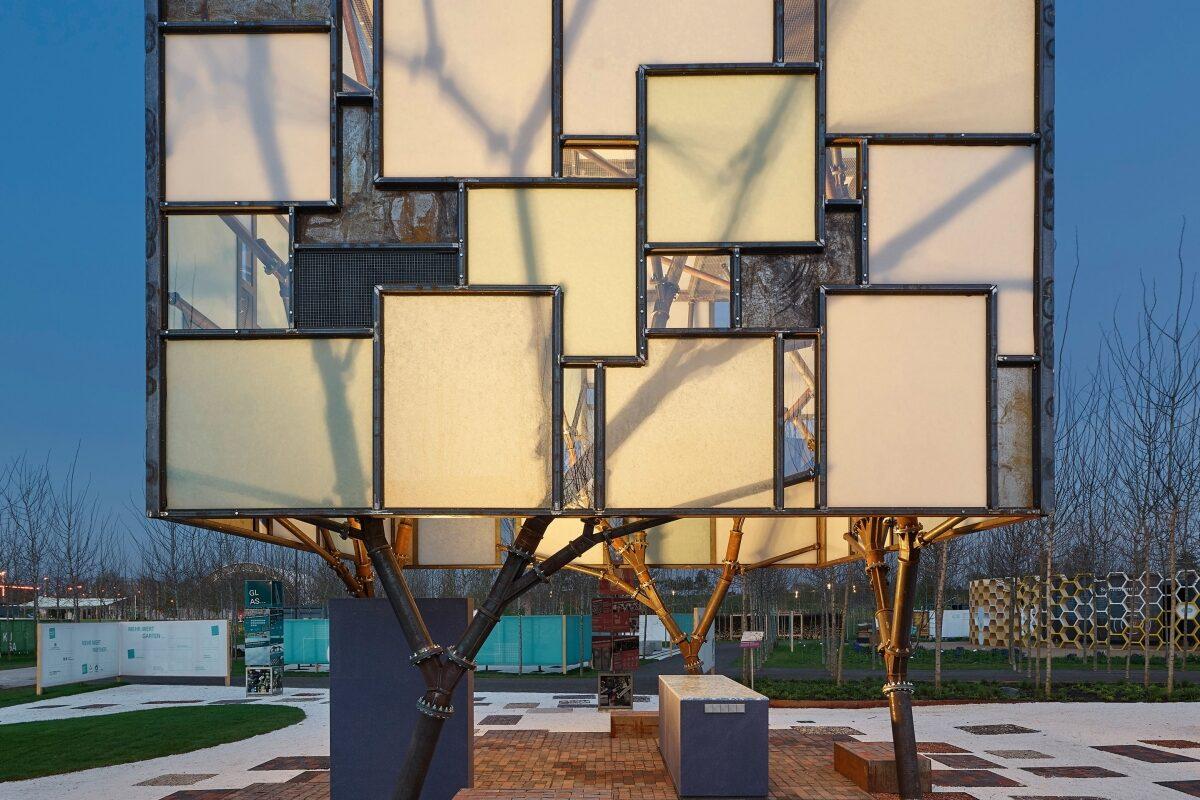 Ein Beispiel für nachhaltiges Bauen: der Mehr.WERT.Pavillon bei der Bundesgartenshow 2019 in Heilbronn