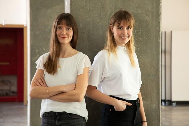 Die beiden Gründerinnen der Architects for Future-Ortsgruppe in Karlsruhe: Elena Boerman und Alisa Schneider (Foto: Bernd Seeland